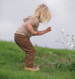 Children and plants