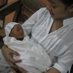 Water birth Baby